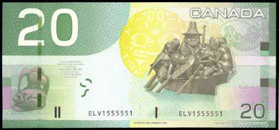 $20 cad bill